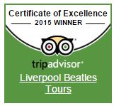 Trip Advisor Certificate of Excellence Liverpool Beatles Tours