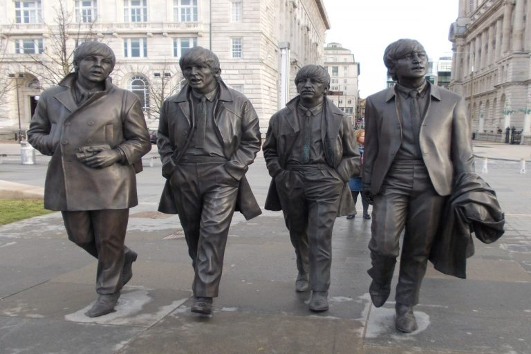 Beatles Statues at the Pier Head, Liverpool