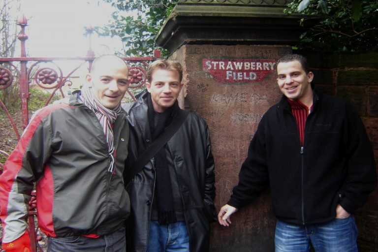 Beatles tourists at Strawberry Field Gates